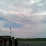 bewölkter Himmel über Gera