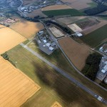 Luftaufnahme vom Flugplatz Gera Leumnitz