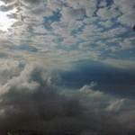Schäfchen-Wolken über Gera