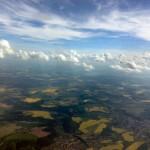 schönes Wetter zum Fallschirmspringen über Gera