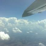 Wolkenformation von oben